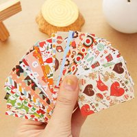 Wholesale Label Paster Diary Decorative Adhesive Paper Deco Sticker Gift Tags Seal Sticker Set FG17508