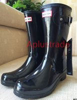Wholesale Women Men Brand Rubber Mid calf Rain Boots Hunt Waterproof Rainboots Water Shoes Wellies Boots Muti color