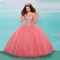 Wholesale Watermelon Red Ball Gowns Princess Formal Masquerade Party Quinceanera Dress Puffy Lavender Sweet Dresses Cheap HY1573