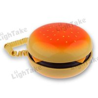 Wholesale Hot sale KXT Creative Hamburger Shaped Corded Phone Yellow