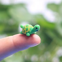 animal figurines - artificial cute green tortoise animals fairy garden miniatures mini gnomes moss terrariums resin crafts figurines for garden decoration