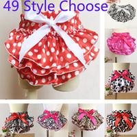 Wholesale 49style Baby Underwear Ruffled Bloomer PP Pants Kids Girls Skirt Diaper Photography Pantskirt Todder Children Floral pant ZJ P01