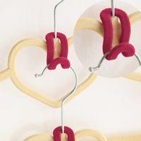 Wholesale 1pcs Home Creative Mini Flocking Clothes Hanger Hook Closet Organizer Clothes Hanger Wardrobe Command Hook
