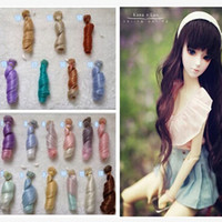 Wholesale 20PCS Thicken Handmade BJD SD Curly Wigs Hair Dolls CM