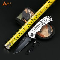 Wholesale High Quality Aluminum handled pocket camping survival knives hunting folding knife rescue tools hands best gift