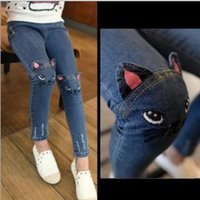 antique jeans - 2016 Girls Denim Pant New Ins Hot Sell Kids Jeans Antique Girls Children s Jeans Wide legged Pants Fashion Girls Loose Pant