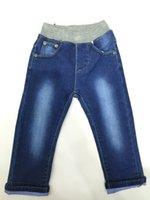 baby denim pants - 2016 New Baby Kids Fashion Jeans Boy Full Pants Trousers Elastic Jeans Denim Factory Elastic Waist Jeans