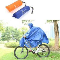Wholesale Multi purpose Outdoor Poncho Raincoat Climbing Cycling Rain Cover Waterproof Camping Tent Mat Travel Equipment Orange Blue