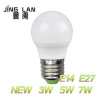 Wholesale NEW arrive simple Nature White Warm White led bulbs lamps GlobeG45 E27 E14 W W W VALUE BOX