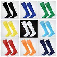 Wholesale 9 Colors Men Football Socks Over Knee Long Sports Socks Brand New g piece Drop Shipping