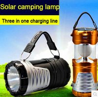 Wholesale Multifunctional super bright LED lamp solar energy lamp outdoor camping tent lights pull emergency lamp lantern