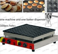 Wholesale 100pcs Commercial Use Non stick v v Electric Poffertje Mini Dutch Pancake Machine Maker Iron Baker Batter Dispenser LLFA11