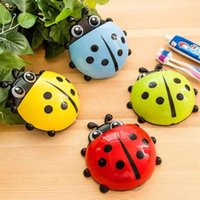 Wholesale color Creative ladybug Cartoon ladybird suction cup toothbrush toothpaste holder bathroom accessories kid gifts home decor