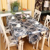 dining table and chair - 2016 The New Classical chinese style blue and white porcelain dining table cloth tablecloth fabric table runner chinese style table cloth
