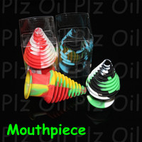 glass toys - FDA approved oil dabbers customized bho oil silicone container ecig silicon pads silicone glass bong mouthpiece containers