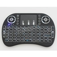 Wholesale i8 Wireless Mini Qwerty Keyboard With LED Backlit Touchpad Mouse Backlight For Google Android TV BOX Xbox360 PS3 HTPC IPTV