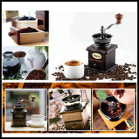 Wholesale 2015 Hario the latest mini manual coffee grinder antique wooden stand bowl manual Mini Grinder for coffee