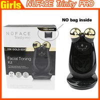 facial massager - Nuface Trinity PRO K Gold Facial Toning Kit Skin Care Treatment Device Face Massager Multi Functional Beauty Equipment