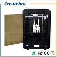 2016 Le plus récent Createbot MAX 3D imprimante kit écran LCD double imprimante extrudeuse impression 3d 1 rouleau filament carte SD 8 Go comme cadeau