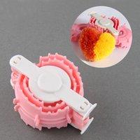 baby weavers - Hot Sale Heart Shaped Pom Pom Maker Fluff Ball Weaver Baby Knitting Loom Yarn Family Craft Tool DIY Set