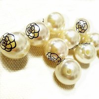 Wholesale Pearl Like Beads with Your Logo Printed On Suitable for Earrrings Bracelets Necklaces Beads Accessory