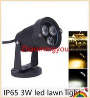 Wholesale IP65 W led lawn light AC85 V garden lamps luminarias for landscape garden spotlight warm white outdoor led