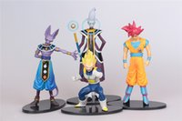 battle dragon bag - Dragon Ball Z Battle Of Gods PVC action Figure Whis Beerus Goku Vegeta Decoration Dolls toys in opp bag gifts Collection