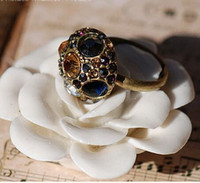 african trade beads - Fashion Trading Europe and America Jewelry Open Adjustable Alloy Diamond Inlaid Rabbit Mushroom Head Beads Rings Fashion Lady Jewelry