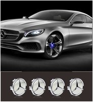 Wholesale Newest Magnetic Induction LED Car Wheel Center Emblem Lights Non Rotating Wheel Caps Covers Mercedes Benz All Series Available