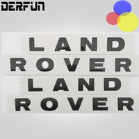 aluminum discovery - LAND ROVER DISCOVERY Car head tail Sticker Silver Black ABS Chorm Sticker car decoration