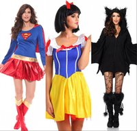 batman costume game - New Arrival Halloween Costumes Superhero Cosplay Sexy Fancy Dress Snow White Cosplay Black Batman Anime Costumes Gown Clothes for Women
