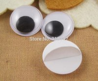Wholesale mm bag plastic wiggling toy eyes with self adhesive doll accessories1001152000