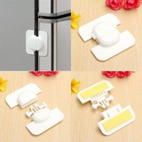 adhesive child locks - Child Infant Baby Safety Appliance Fridge Drawer Cupboard Cabinet Door Drawer Lock Latch with Double sided Adhesive