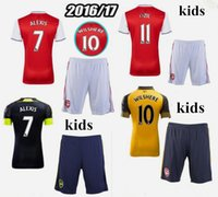 arsenal away kit - Arsenal kids Soccer Jerseys kit WILSHERE OZIL WALCOTT RAMSEY ALEXIS home Away rd Top Thai kids Football shirts