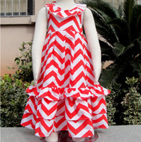 beach wavy - Summer kids girls long dresses girl stripe dress princess beach dress wavy dress for years