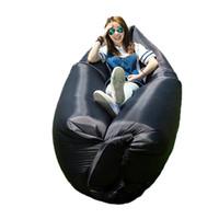 Wholesale 2016 Outdoor Rapid Inflatable Portable Air Beach Bed Camping Sofa Banana Sleeping Bag Beanbag Lazy Bag