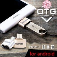 Wholesale Original REMAX Micro USB OTG Plug for Android Mobile to Pen Drives Extend Storage Read U Disk Connect Mouse Keyboard Mini Size