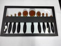 shape ups - 10Pcs Make Up Oval make Brush Set Pro Beauty Toothbrush Shaped Foundation Power Eyebrow Eyeliner Lip Facial Makeup Brushes Tools