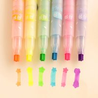 Wholesale Pack Creative Star Type Singular Highlighter Color Pen Tip Marker Designer Pens Office Pen H0583