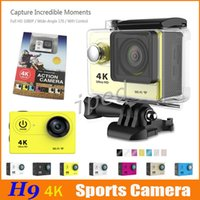 Wholesale 2016 New Ultra HD K Video Action Camera EKEN H9 degrees Wide Angle Sports Camera inch Screen p fps Gopro hero colorful DHL