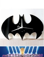 Wholesale DIY Wall Stickers Living Room Wall Clock Clock Creative Home Decorations Craft Wall Clock Batman Watches MYY
