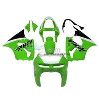 Wholesale 3 Free gifts New ABS Fairings Kits For kawasaki Ninja ZX6R ZX6R zx6r ABS bodywork Nice green white
