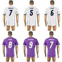 Wholesale La Liga RONALDO home football shirts Men s away soccer jerseys thai quality Customized any name