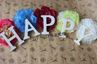 Wholesale 27 letter alphabet pure white wooden Modern Home Decoration wedding decoration Children s educational toys