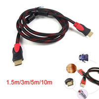 Wholesale HDMI to HDMI Cable Version1 Gold Digital Audio Video M Male to Male Cable Adapter for p PS3 HDTV LCD Black