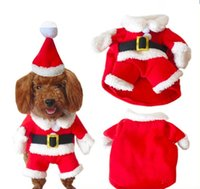 animal costumes pets - High Quality Santa Claus Dog Costume Pet Cat Coat Winter Clothes Christmas Apparel Cotton Clothing for dogs ropa para perros