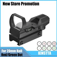 Wholesale KINSTTA Tactical Holographic Reticle Red Green Dot Sight Scope With Mount For RifleAirsoft mm Rail Hunting CS Battle