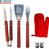 bbq apron set - 7PCS BBQ Set Apron and Utensil Set Tong Fork Spatula Shakers Mitt BBQ Tool Set