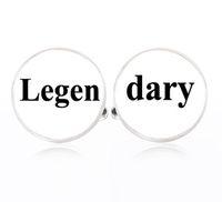 barneys silvers - 1Pair Legendary cufflinks Silver Legen dary cuff links Accessories Barney Stinson quote jewelry wedding cuff links for mens