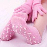 Wholesale pairs Reusable SPA Gel Socks amp Gloves Hand Foot Mask Care Smooth Whitening Treatment Moisturizing Spa Gel Socks Gloves